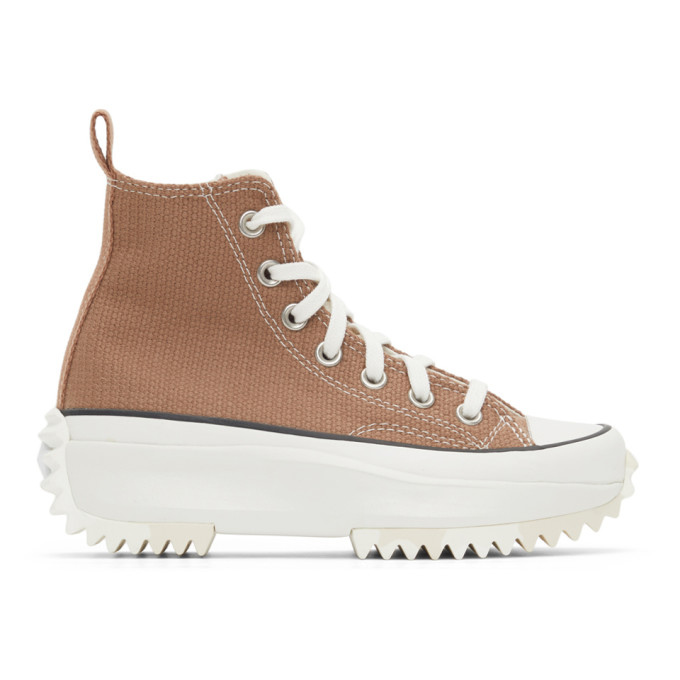 Converse CONVERSE TAUPE MARBLE RUN STAR HIKE HIGH SNEAKERS