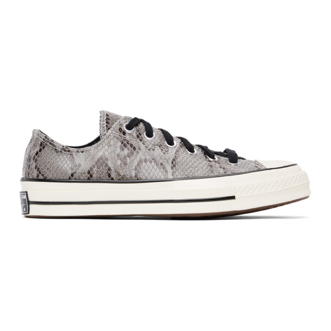 Converse Leathers CONVERSE GREY SNAKE CHUCK 70 OX SNEAKERS