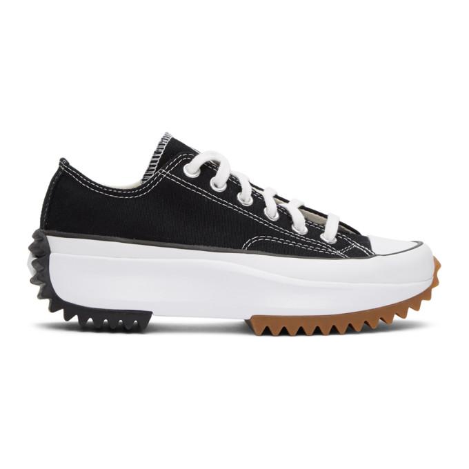 Converse Men's Unisex Foundation Run Star Hike Ox Low-top Platform Sneakers In Blk/wht/gum
