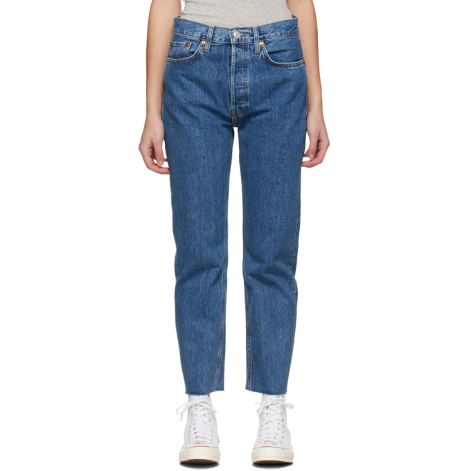 Re/done RE/DONE BLUE 70S STOVE PIPE JEANS