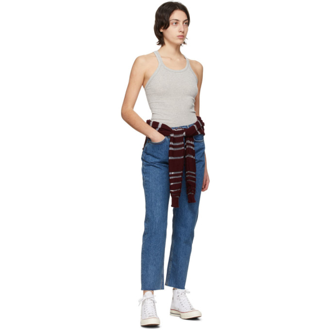 RE/DONE Jeans RE/DONE BLUE 70S STOVE PIPE JEANS