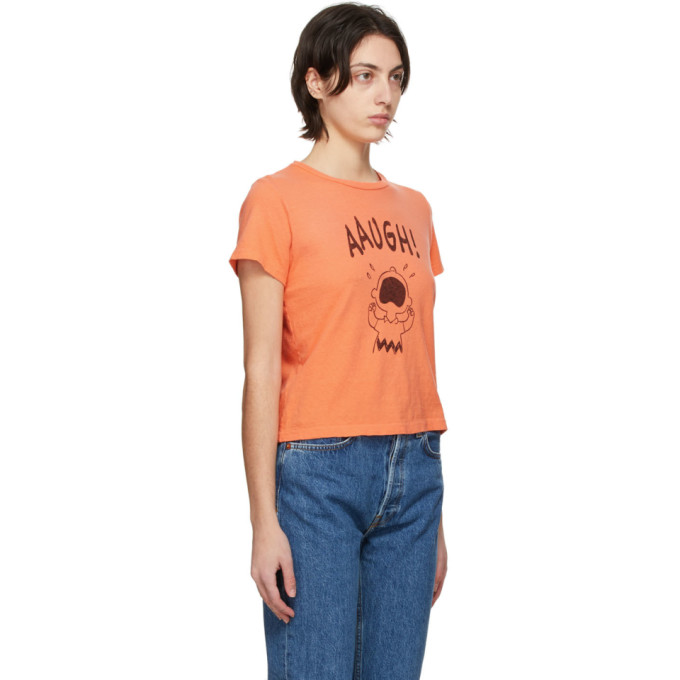 RE/DONE Cottons RE/DONE ORANGE PEANUTS EDITION CLASSIC AAUGH T-SHIRT