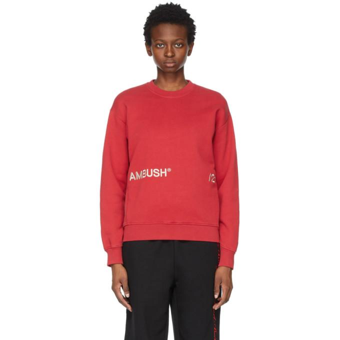 Ambush Sweatshirts AMBUSH RED INSERTS SWEATSHIRT