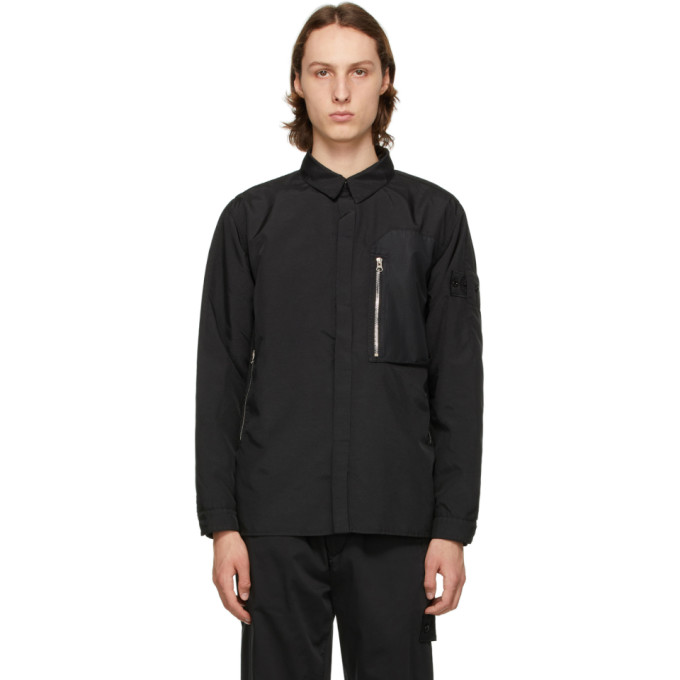 Stone Island Shadow Project Clothing STONE ISLAND SHADOW PROJECT BLACK VENTED OVERSHIRT