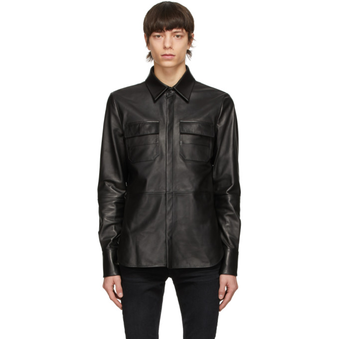 Amiri ブラック シャツ ジャケット