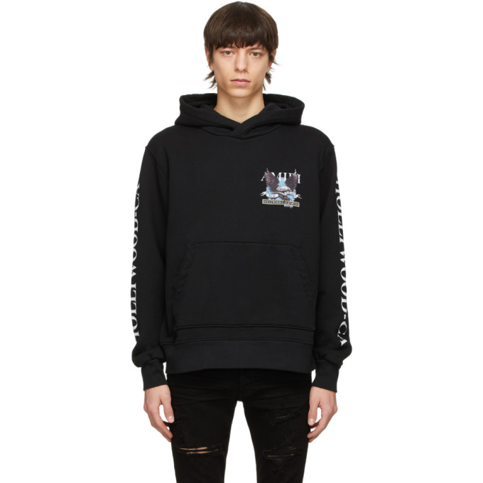 Amiri AMIRI BLACK EAGLE HOLLYWOOD HOODIE