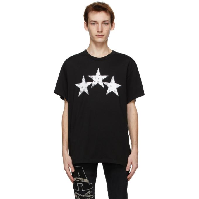 Amiri AMIRI BLACK BANDANA STARS T-SHIRT