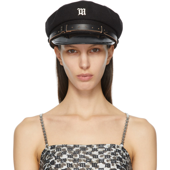 Misbhv MISBHV BLACK MONOGRAM GAVROCHE CAP