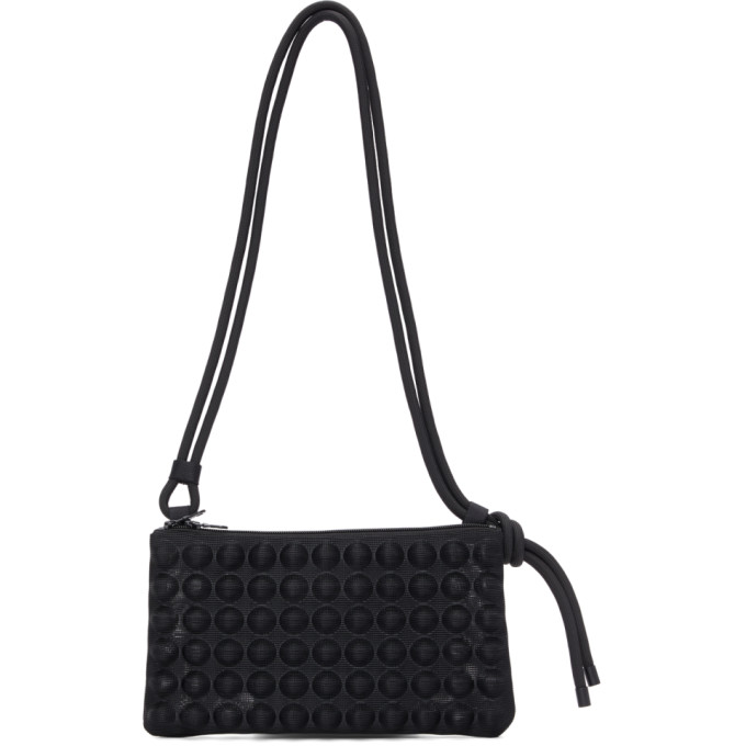 Pleats Please Issey Miyake Pleats Please Black Puchi Puchi Shoulder Bag In 15-black