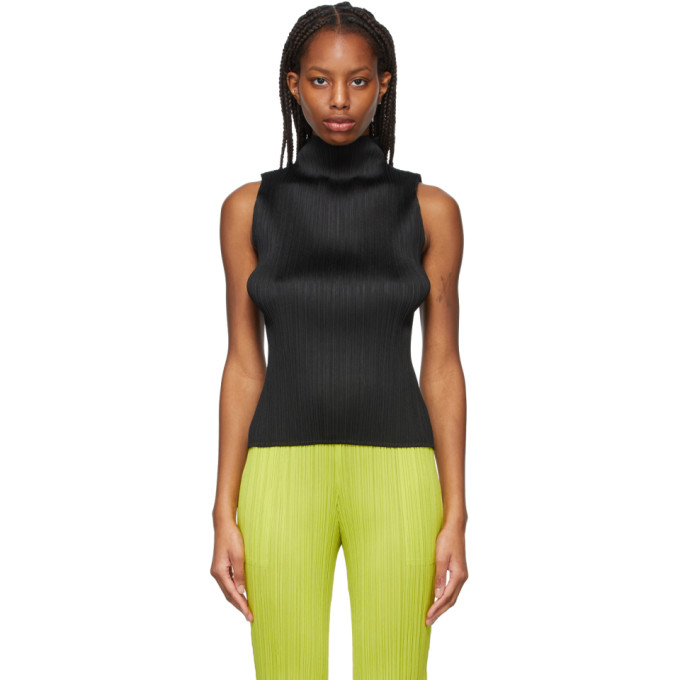 Pleats Please Issey Miyake Pleats Please By Issey Miyake Classic Pleated Tank Top In 15 Black