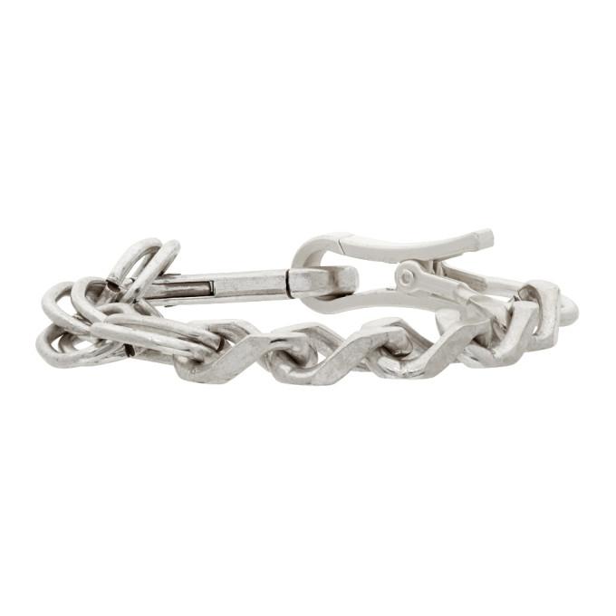 Heron Preston Silver Multichain Bracelet