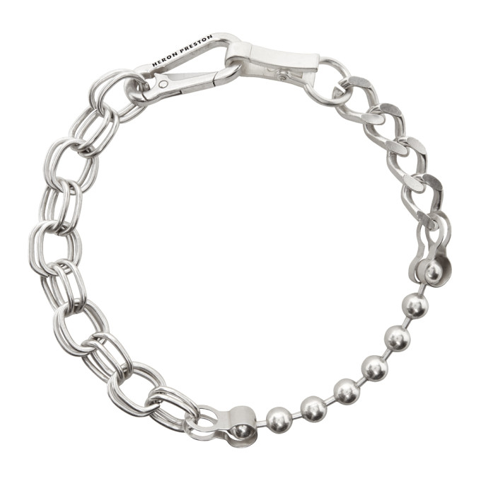 Heron Preston Silver Multichain Necklace