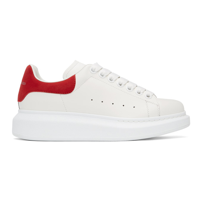 Alexander Mcqueen White & Red Oversized Sneakers In 9676 Wh/red
