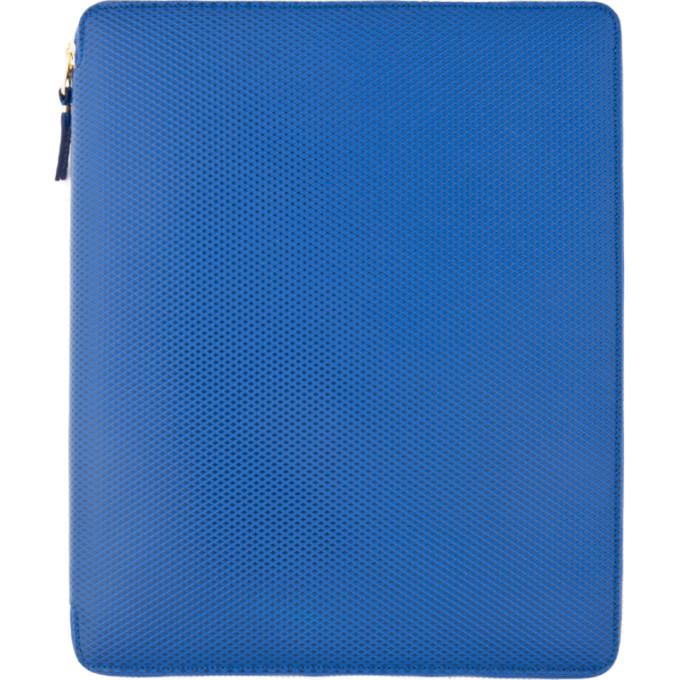 Comme des Garçons Wallets Blue Leather iPad Case