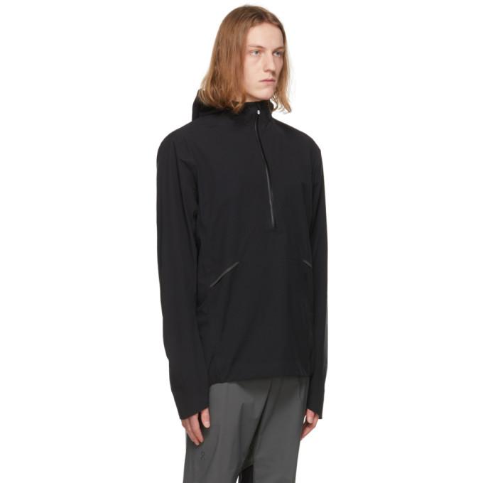 ON Jackets ON BLACK WATERPROOF ANORAK JACKET