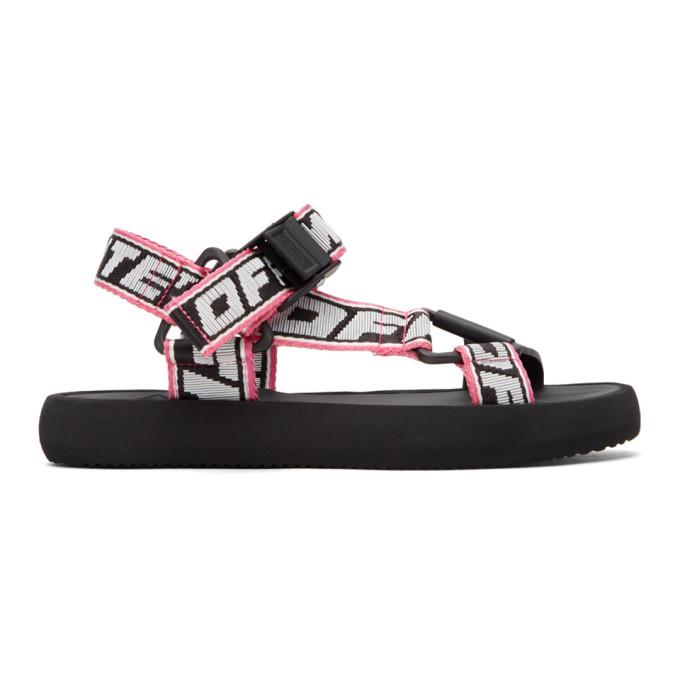 Off-White Sandals OFF-WHITE BLACK AND WHITE TREK SANDAL