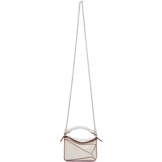 Loewe Off-white Nano Puzzle Bag
