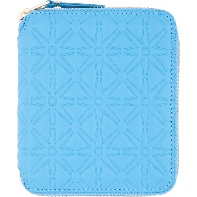 Comme des Garçons Wallets Blue Star Embossed Wallet