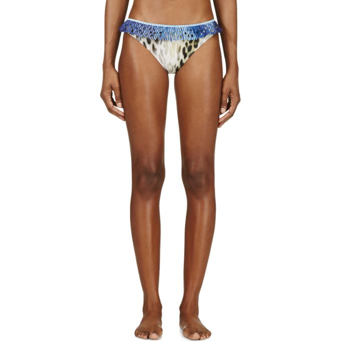 Image of Roseanna Yellow Leopard Ruffled Trim Bikini Bottom
