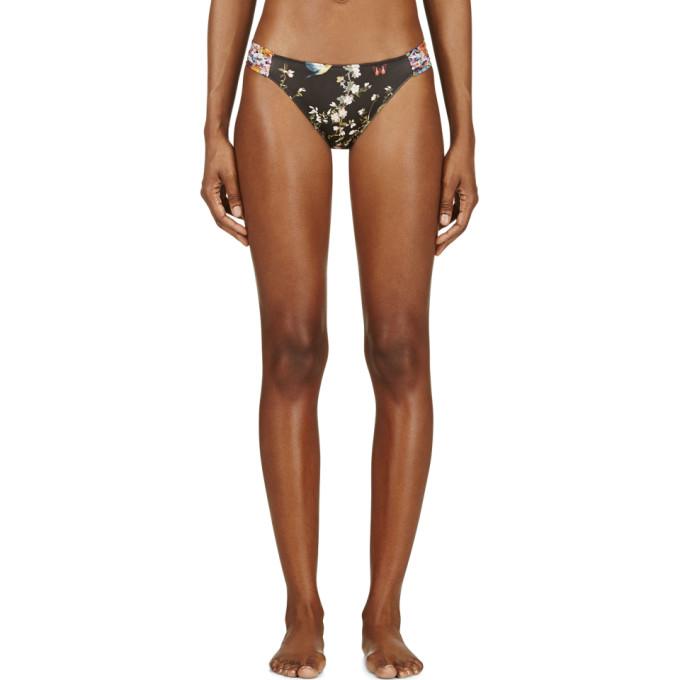 Image of Roseanna Black Floral Print Duo Bikini Bottom