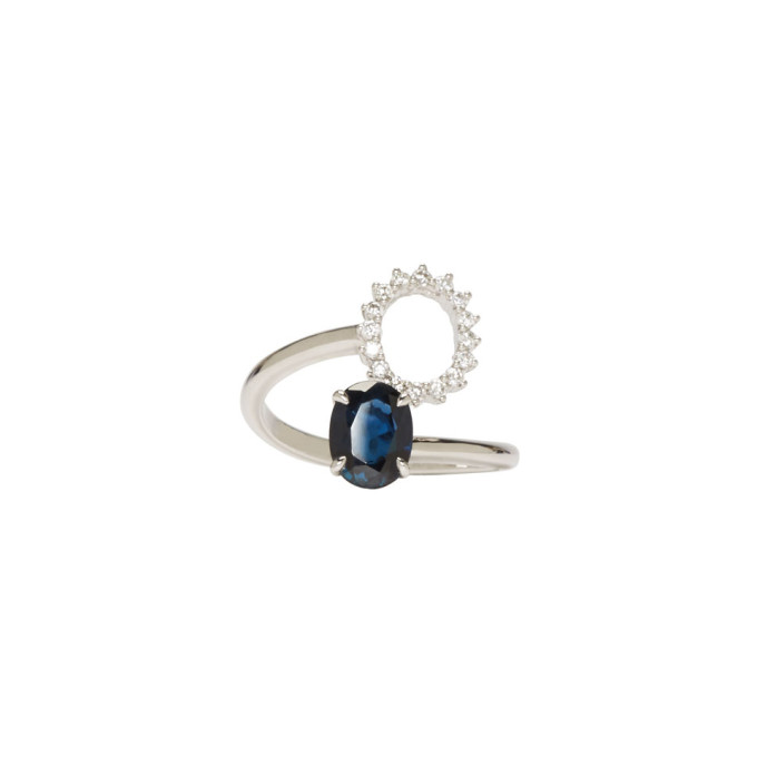 Image of Maison Margiela Fine Jewellery White Gold Deconstructed Pompadour Ring