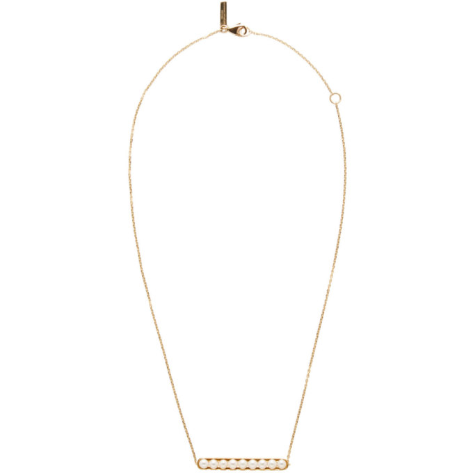 Image of Melanie Georgacopoulos Gold Essence Line Pendant