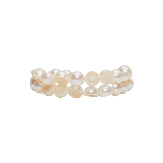 Image of Melanie Georgacopoulos White Sliced Pearl Tasaki Edition Bracelet