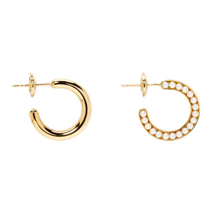 Image of Melanie Georgacopoulos Gold Essence Hoop Earrings