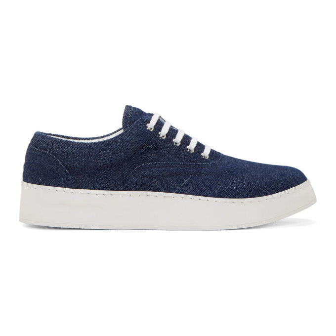 Image of Krisvanassche Indigo Denim Sneakers