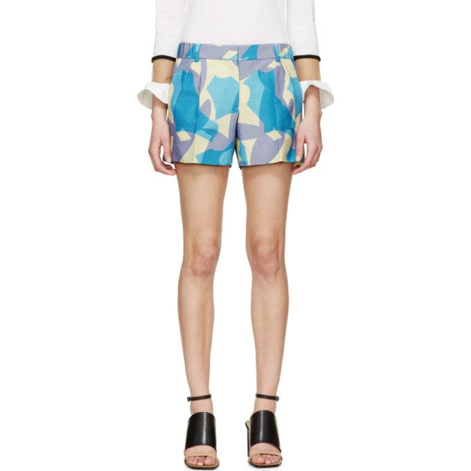 Image of Viktor & Rolf Lavender Printed Shorts