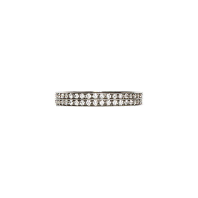 Image of Repossi Black Gold Pavé Diamond Berbere Ring
