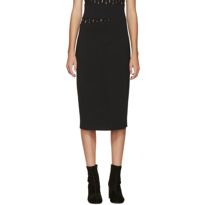 proenza schouler female proenza schouler black slit skirt