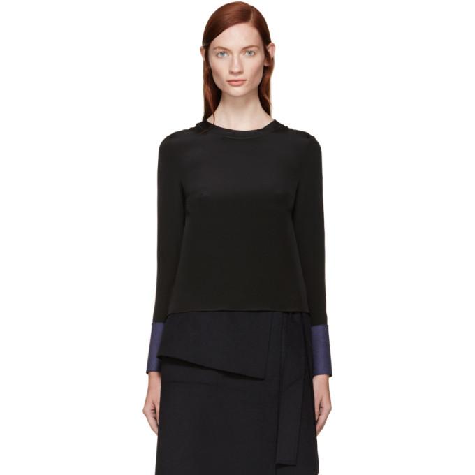 roksanda female roksanda black silk selwood blouse