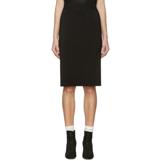 Image of Burberry London Black Knit Skirt