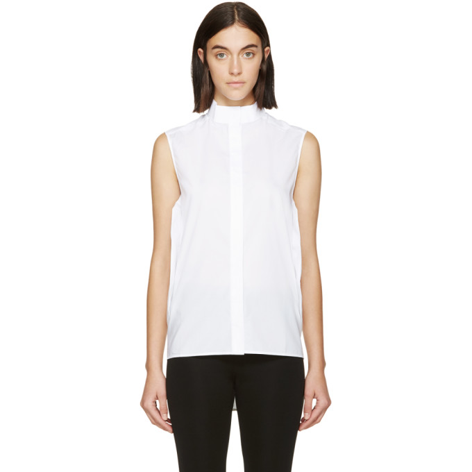 paco rabanne female paco rabanne white sleeveless tunic
