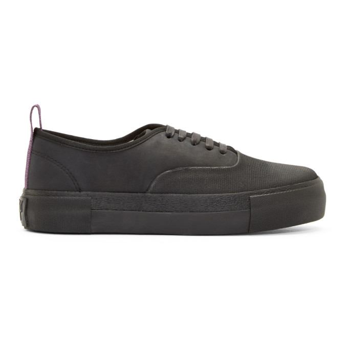 Image of Eytys Black Leather Mother Galosch Sneakers