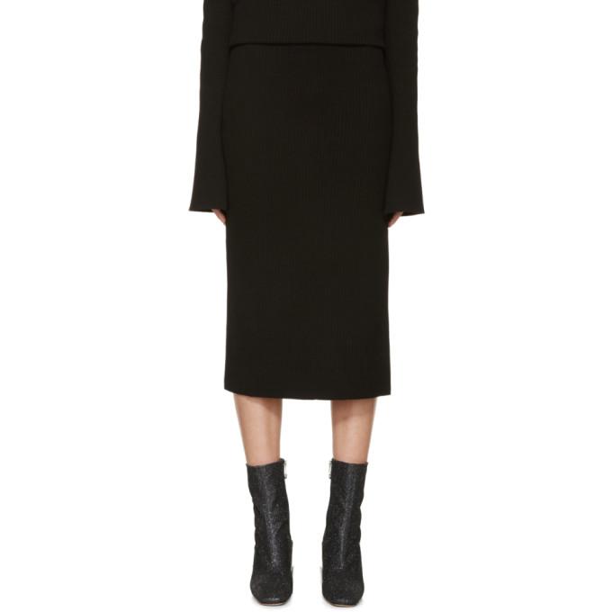 thomas tait female thomas tait black rib knit tea skirt