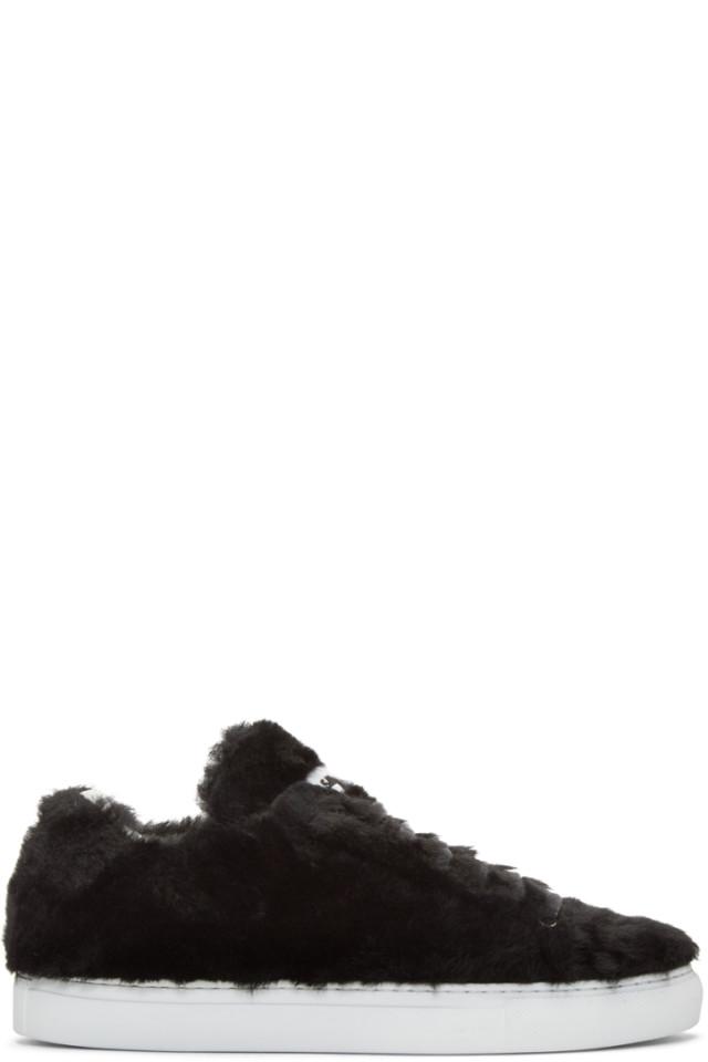 Jil Sander Shearling Sneakers
