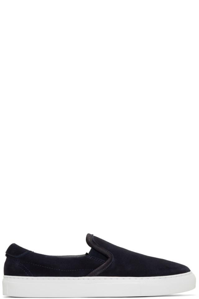 Diemme Navy Suede Garda Slip-On Sneakers