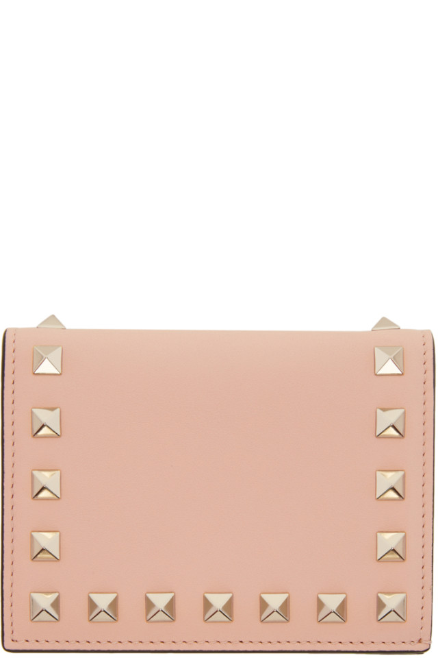 Pink Valentino Garavani Small Rockstud French Flap Wallet Valentino Cheap Sale Shop Offer Outlet Recommend Cheap Sale Outlet Store Buy Cheap Top Quality Buy Cheap Best mEZn0Xq