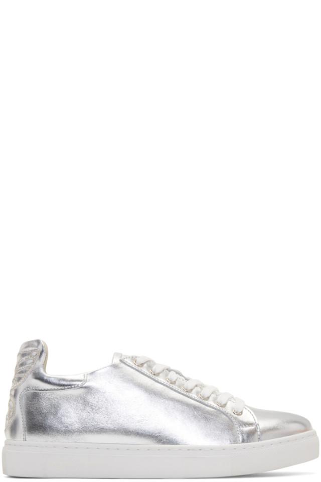 Marc Jacobs Black & Rose Gold Bibi Butterfly Sneakers xvZLb7H