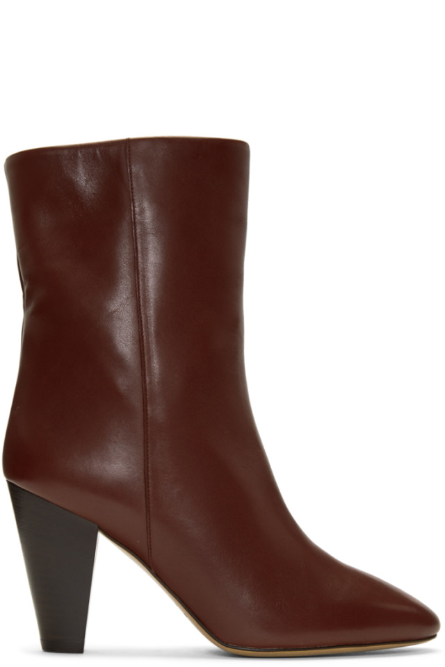 Many Styles Manchester Great Sale Isabel Marant Burgundy Darilay Boots Browse Online du1ltj