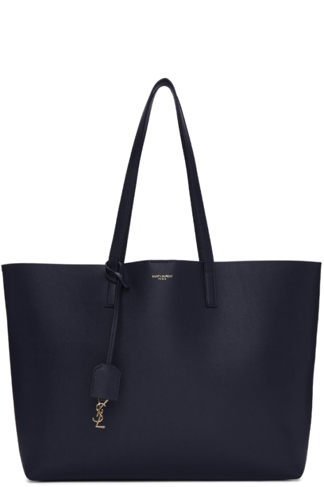 Navy East/West Shopping Tote Saint Laurent Cheap Eastbay 742d21B5ab