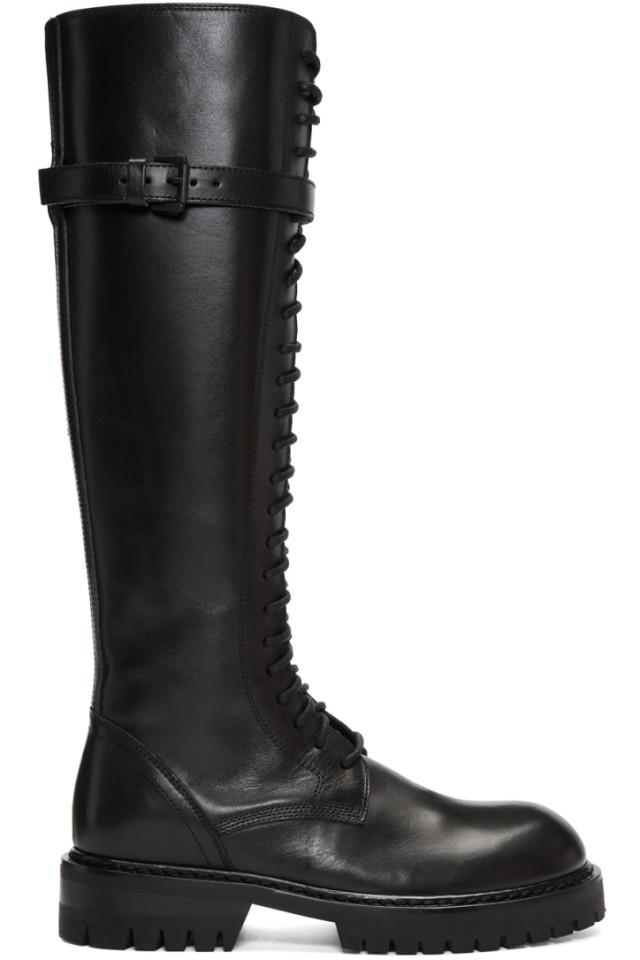 ANN DEMEULEMEESTER Tall Lace-Up Boots z0FhNhc5D