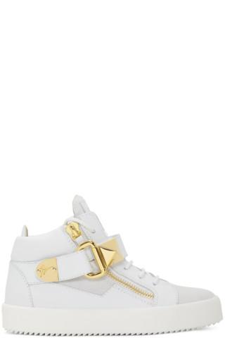 Giuseppe Zanotti White May London Donna High-Top Sneakers cCS0Ww