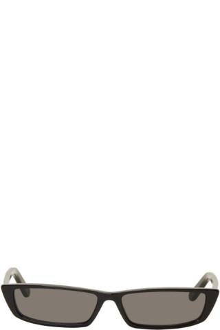 Noires Rectangular Lunettes Thin Balenciaga Soleil De iXZPTOku