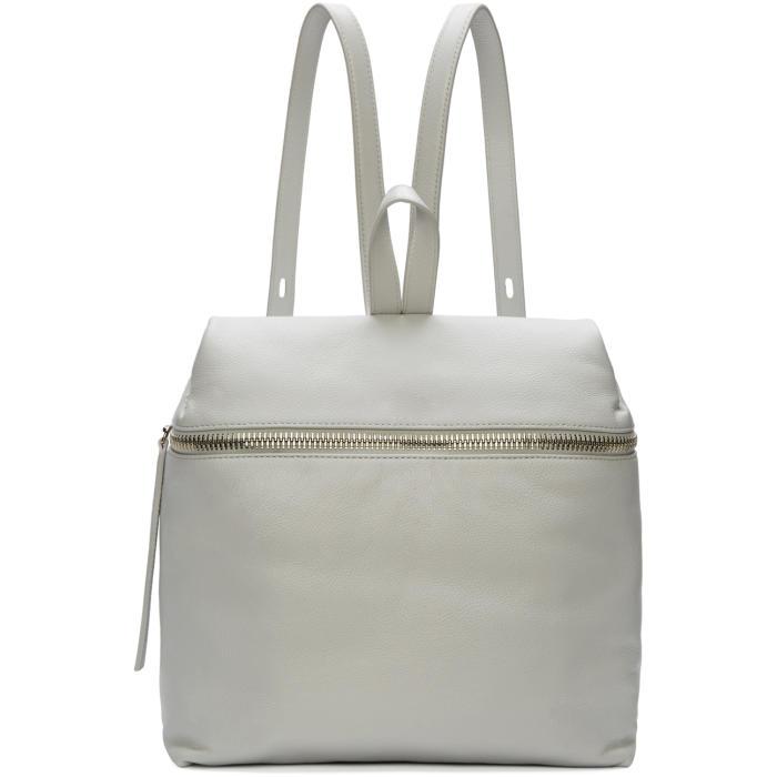 Kara Grey Pebbled Leather Backpack