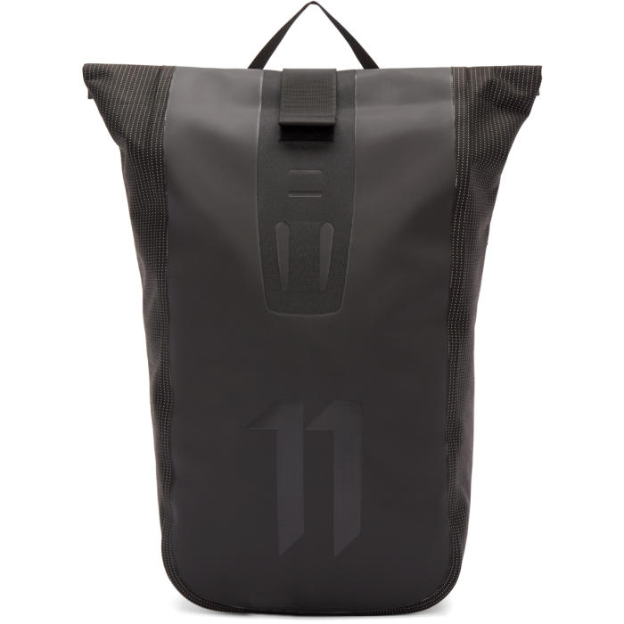 11 by Boris Bidjan Saberi Black Roll-Top Velocity Backpack