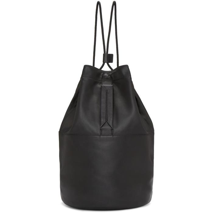 Rag and Bone Black Leather Walker Backpack