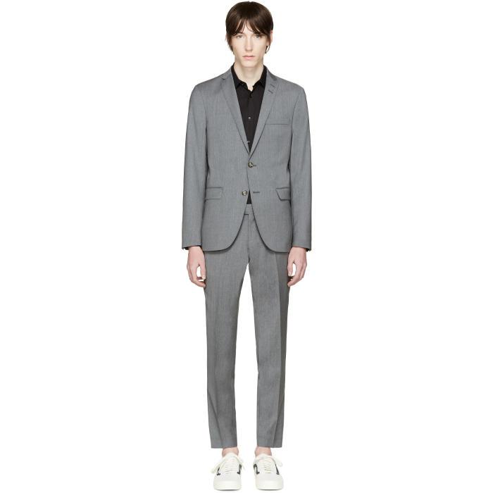 Tiger of Sweden Grey Wool Harrie Suit